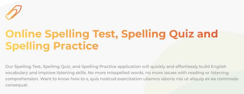 SpellQuiz | Online Spelling Test, Spelling Quiz and Spelling